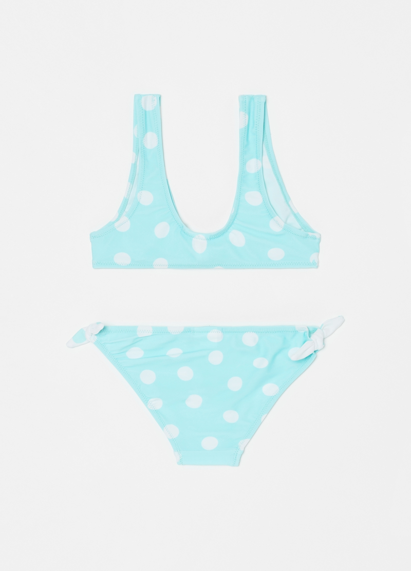 Costume da bagno stretch a pois image number null