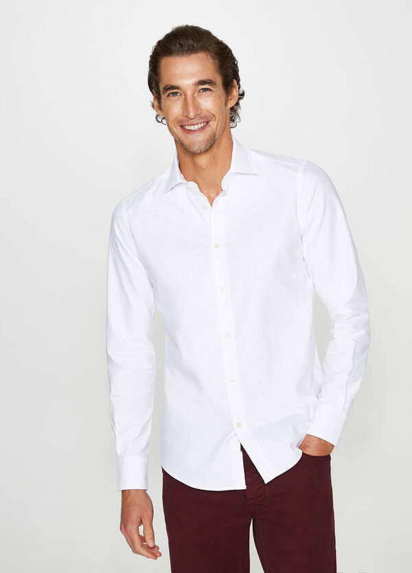 Rumford solid colour casual shirt