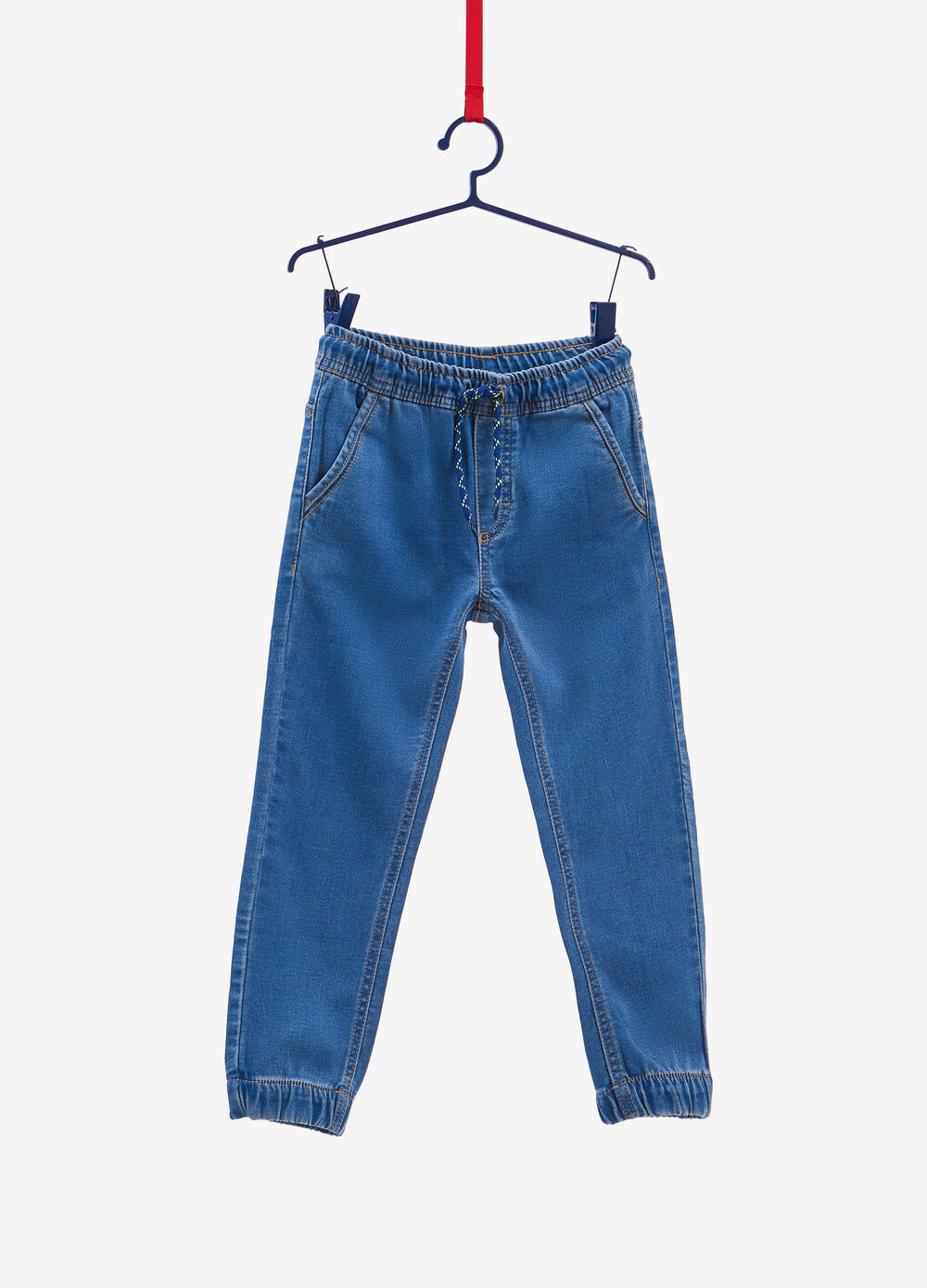 Jeans jogger fit stretch con coulisse