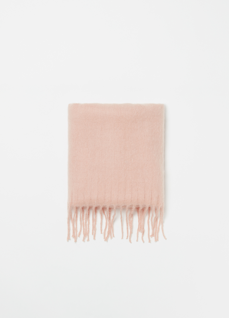 Maxi scarf with fringing image number null