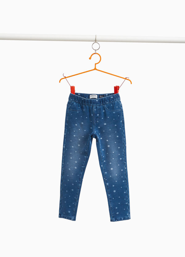 Jeggings stretch fantasia a stelle