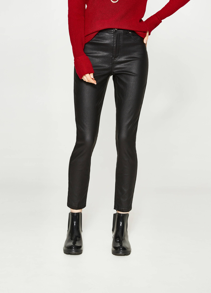 Stretch viscose trousers image number null