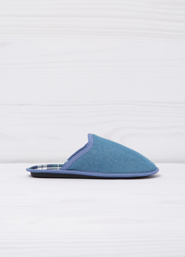 Slippers with tartan lining | OVS