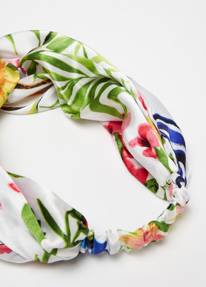 Floral patterned headband