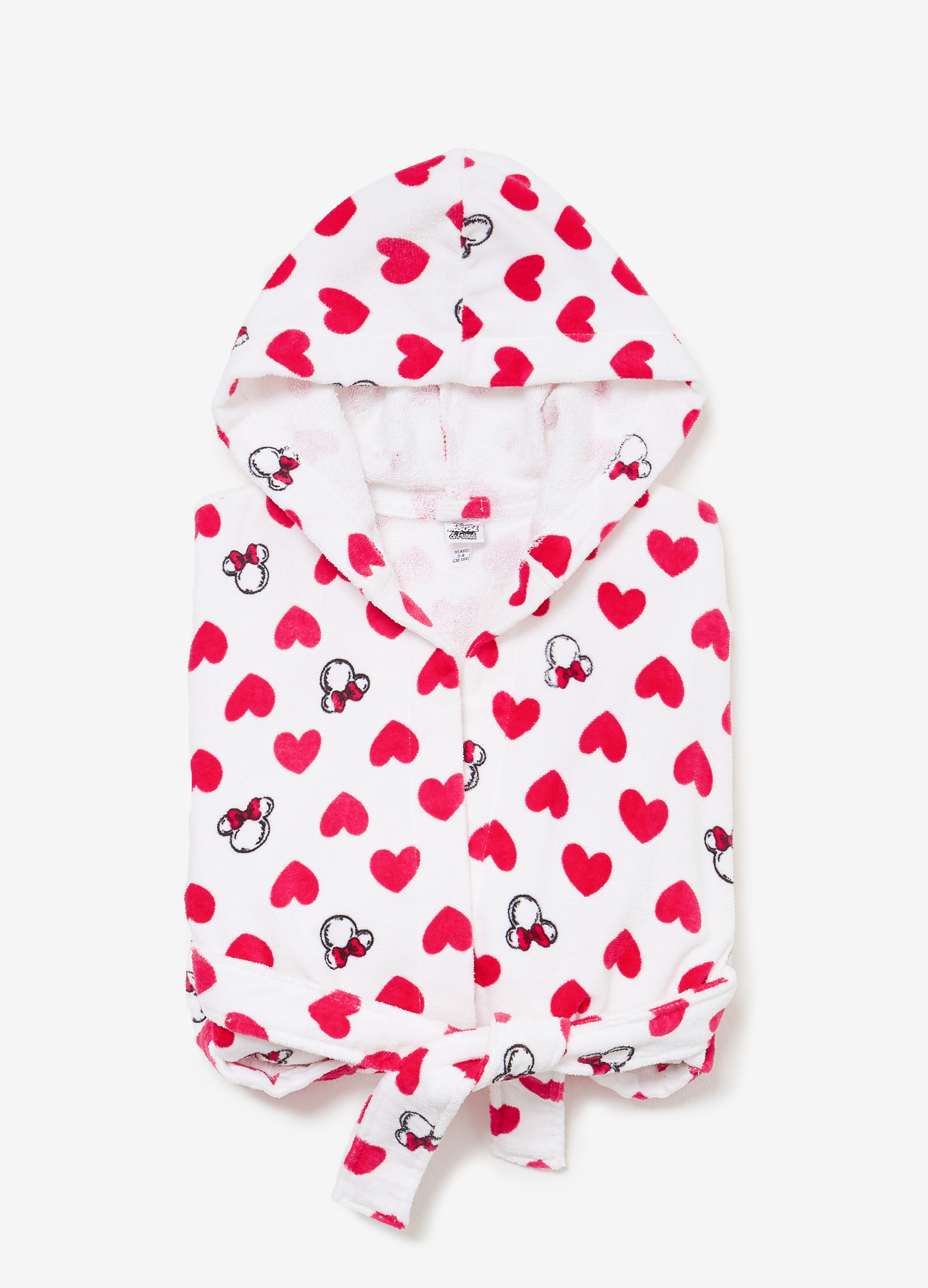 Patterned Minnie Mouse dressing gown with hearts | OVS