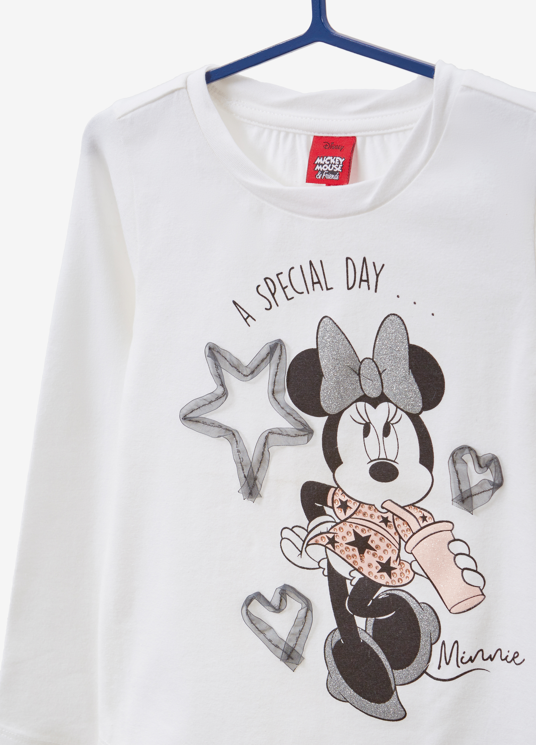 Minnie Mouse T Shirt Design | Stretch Cotton T Shirt With Minnie Mouse Print Ovs