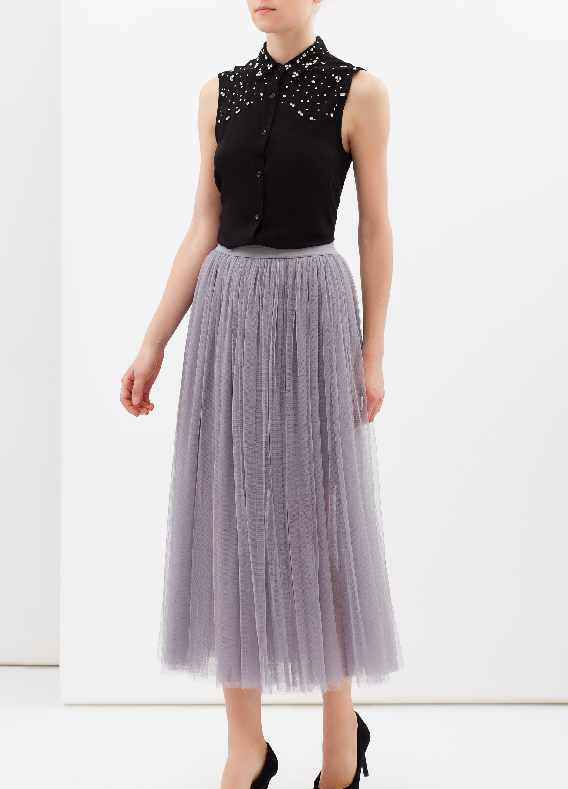 check-out 90ab6 61876 Gonna plissettata in tulle
