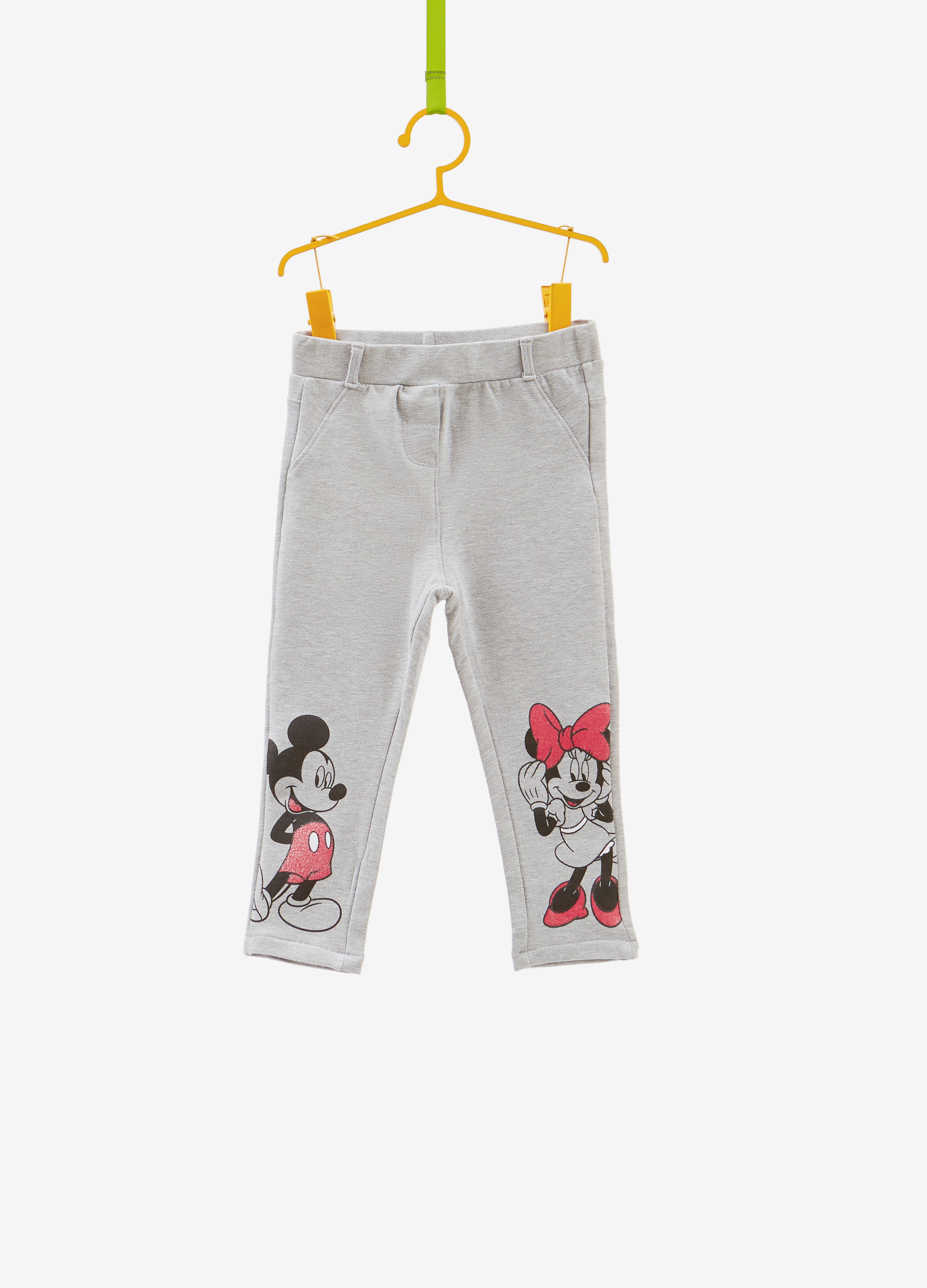 Minnie And Mickey Mouse Stretch Trousers Ovs Long Hem Denim Null