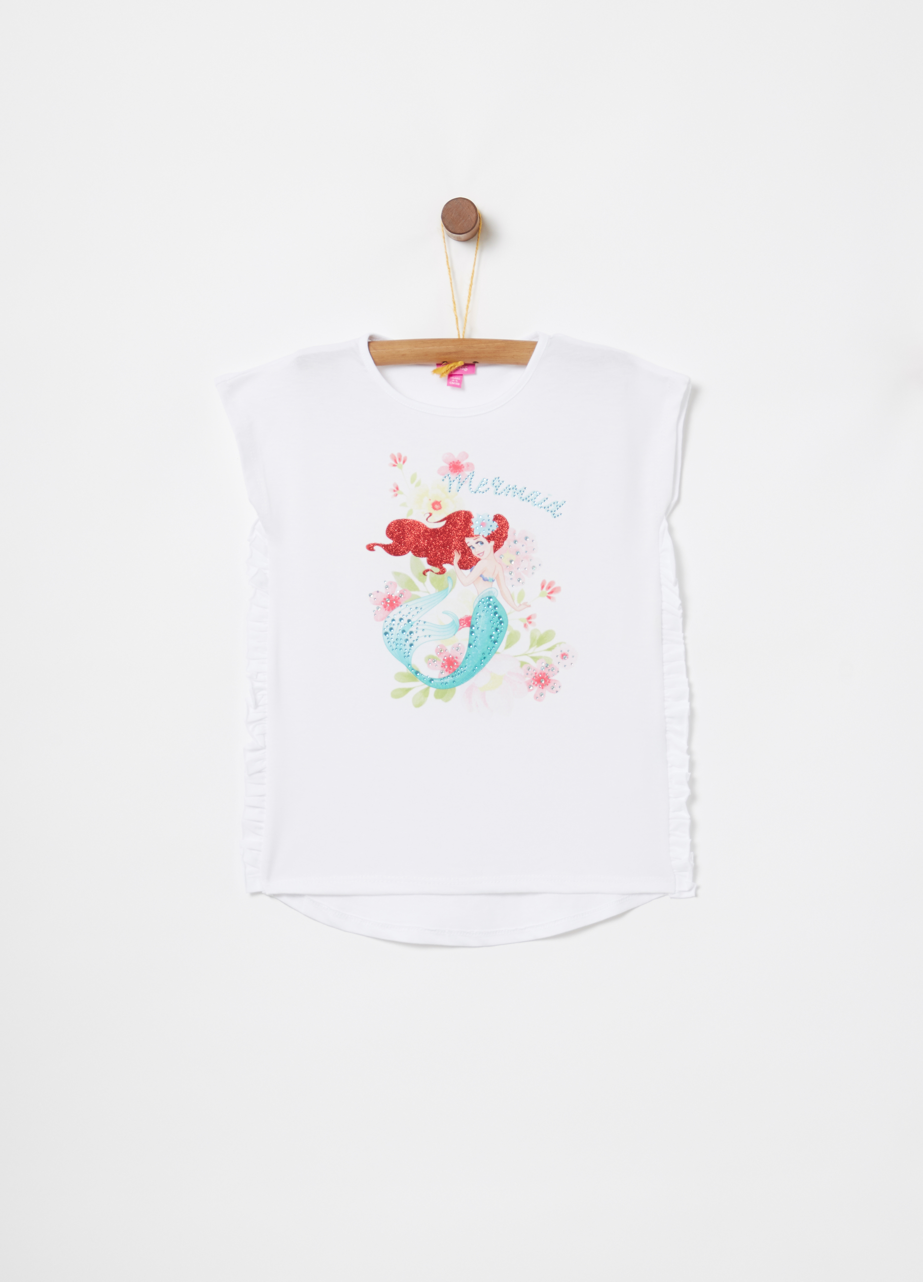 0344b4a7e2 T-shirt with frills and Disney print